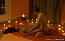 Sensual body massage and finger fucking
